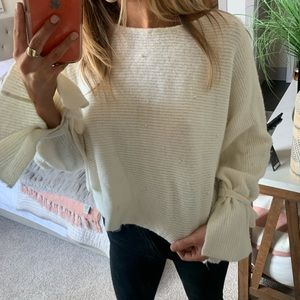 Mustard Seed Sweaters - White detail sweater